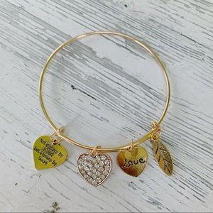 Jewelry - Gold Charm Sister Bracelet